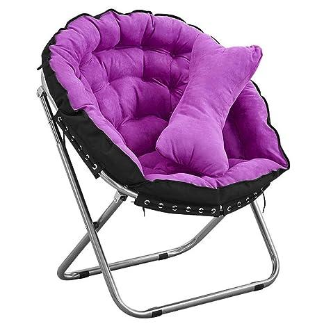 DMMW Sofá Lounge Sillón Redondo Silla Plegable de Aluminio ...