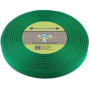 Country Brook Design | Polypropylene Webbing (1 Inch) (Kelly Green, 25 Yards)