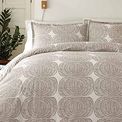 Marimekko Mehilaispesa Comforter Set, Full/Queen, Pastel Brown - 100% Percale Cotton Construction - 200 Thread Count Machine washable for easy care Set includes: One comforter and two shams - comforter-sets, bedroom-sheets-comforters, bedroom - 61iR%2B2itMZL. SS400  -