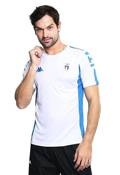 eab23838c61c0 Kappa Jersey Italia Olímpico Playera para Hombre Blanco Talla M ...