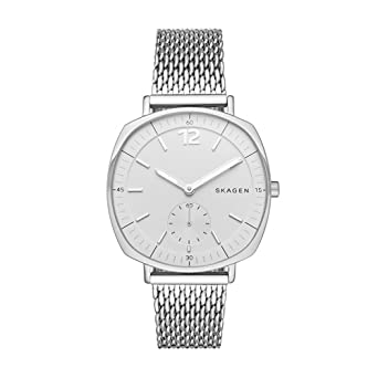 watch skagen signatur ladies watches white dial mesh
