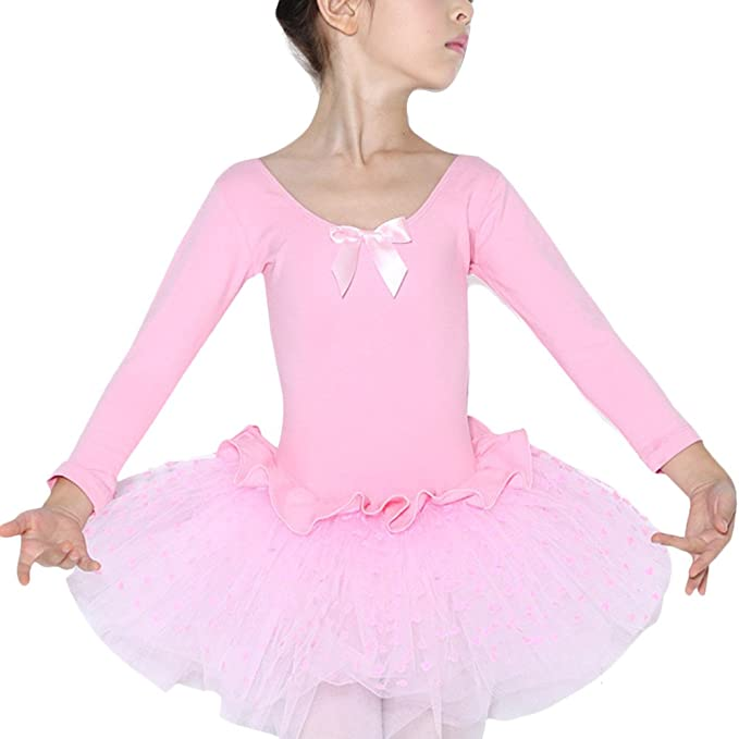 d3ac8cc76 Amazon.com  Zhuhaitf Girls Long Sleeves Leotard Ballet Dress Kids ...