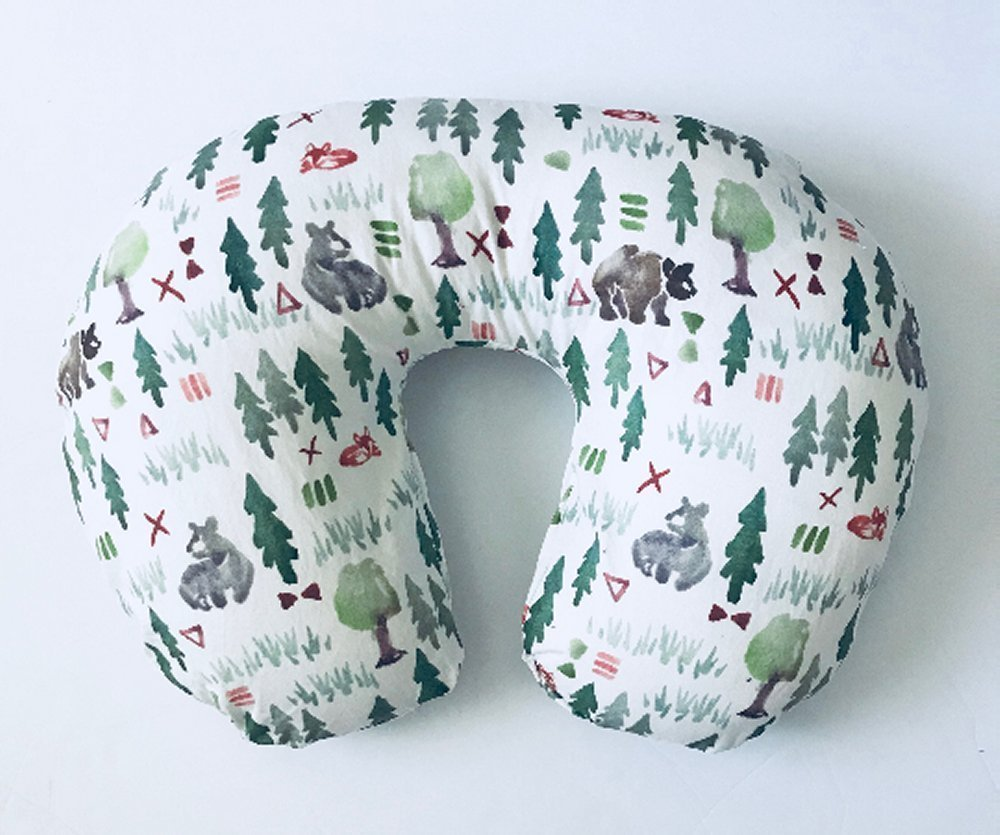 Nursing Pillow Cover - Watercolor Forest