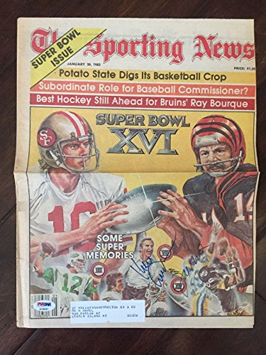 Joe Montana Ken Anderson Signed AUTOGRAPH Sporting News Newspaper - PSA/DNA Certified - NFL Autographed Miscellaneous Items