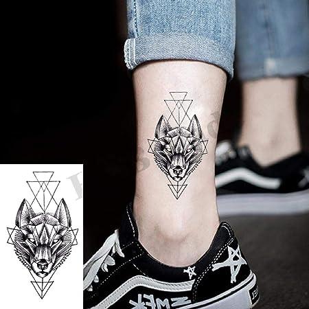 Geometría genial Etiqueta engomada del tatuaje temporal Mujeres ...