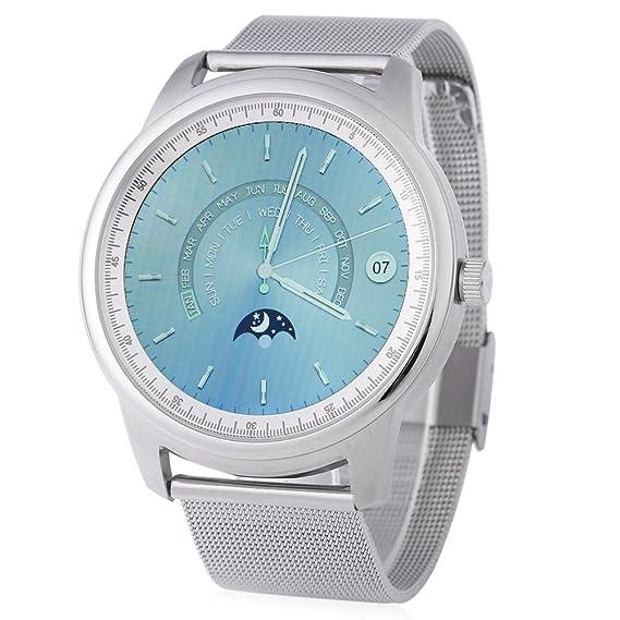 Leopard Shop LEMFO lme1 mtk2502 Reloj Bluetooth Monitor de descanso – Podómetro, color plateado y