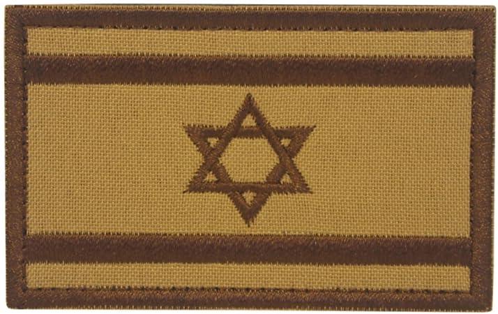 Cobra Tactical Solutions Bandera de Israel Caqui Parche Bordado Táctico Militar con Cinta de Gancho y Lazo de Airsoft Paintball Para Ropa de Mochila Táctica: Amazon.es: Hogar