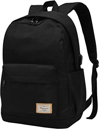 Modoker Travel Laptop Backpack for Womens Mens Fits 15.6 inch