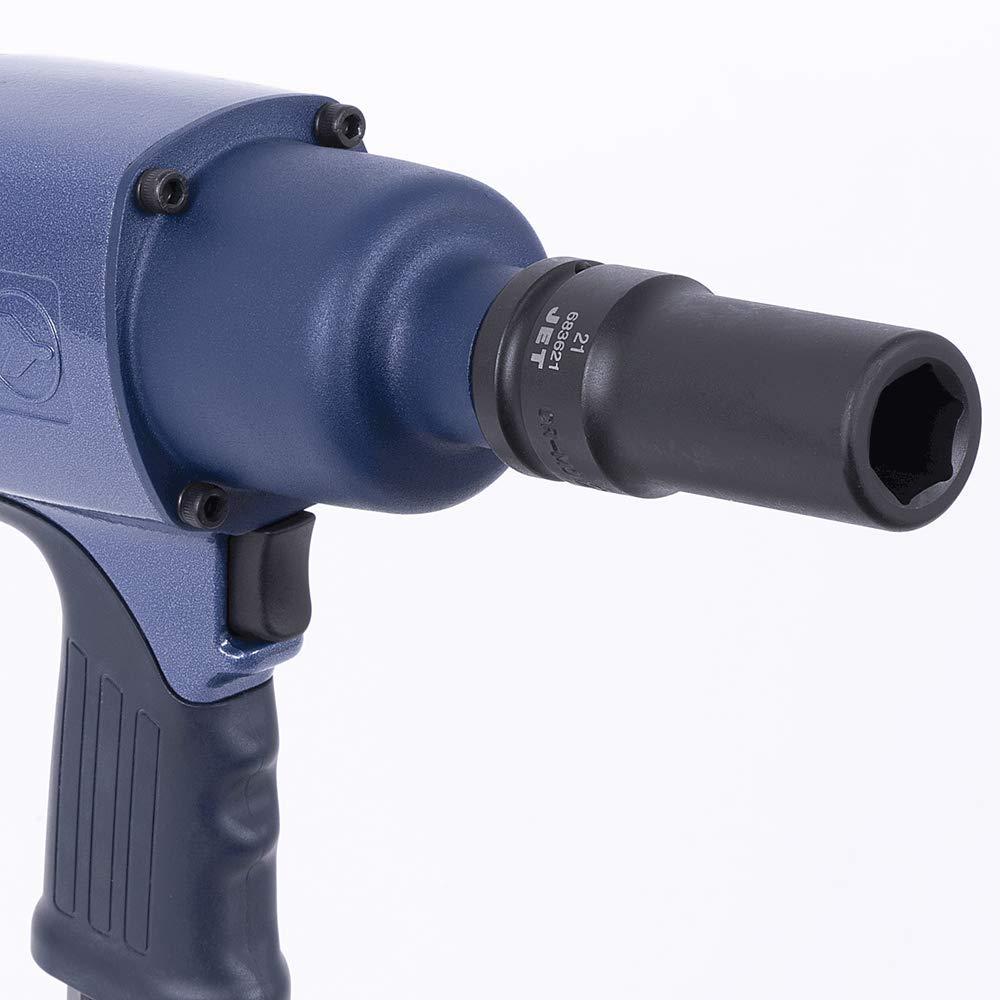 17-Piece Regular Metric Professional Impact Socket Set 6 Point Jet 3//4-inch Drive 610408
