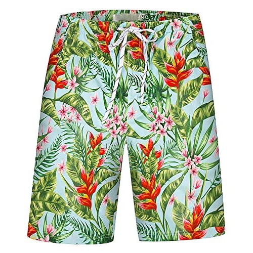 APTRO Mens Swimming Trunks with Pockets Beach Swimwear Quick Dry Elastic Waist Board Shorts