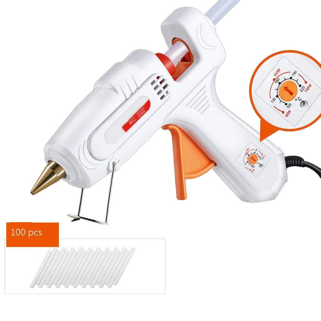 FeiQiangQiang Hot Melt Glue Gun, 40-150W High Temperature Heavy Duty Set, Temperature Gun, Hot Glue Gun With Glue Sticks Transparent Glue Stick, Color Glue Stick, Multi-function Quick Repair Repair, W by FeiQiang