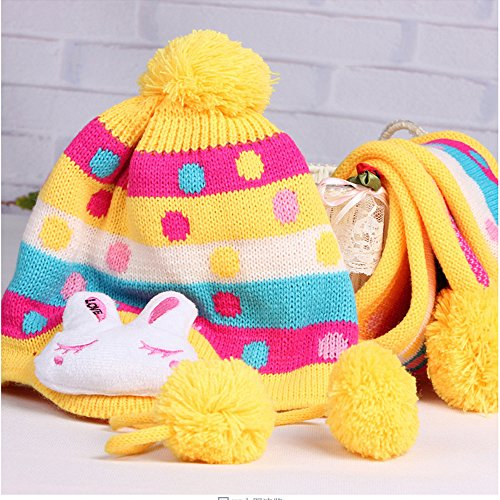 Baby Boy Girl Cute Rabbit Knitted Hat Toddler Kids Cold Winter Warm Hat Earflap Earmuffs Beanie Hat Cap (Nfl Stocking Hats Vikings)