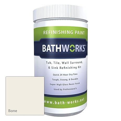 BATHWORKS 22-oz. DIY Bathtub Refinishing Kit with Slip Guard- Bone ...
