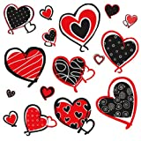 RoomMates RMK1862SCS Mod Heart Peel and Stick Wall Decals