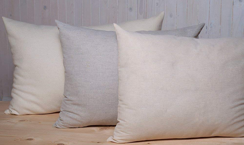 Home of Wool/Wool-Filled Pillow/Solid Color/Cotton, Cotton-Linen Blend or Lambswool Cover/Standard, Queen or King Size/Custom Size and Fabric Options Available