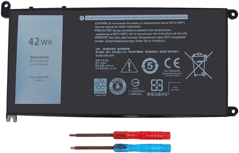 42WH WDX0R Battery for Dell Inspiron 15 5000 7000 Series 15 7579 7573 7560 7569 7570 5565 5567 5568 5570 5578 5579 7586 13 7368 7378 5368 5378 5379 17 5765 5767 5775 Latitude 3189 3580 P66F P58F P32E