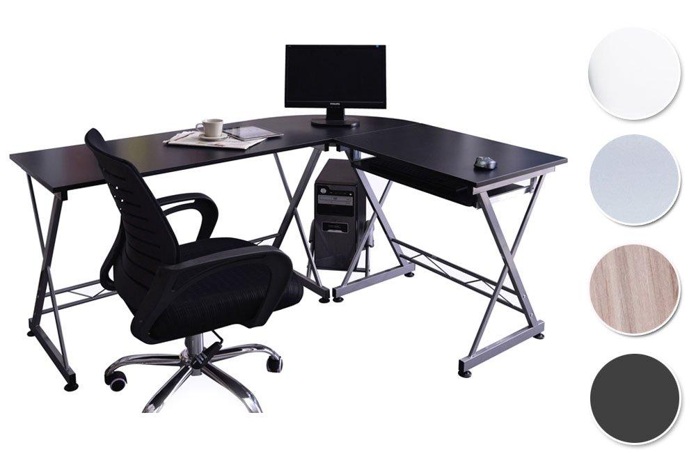 SixBros. Mesa de Ordenador Negro/Gris Plateado - CT-3802/2075 ...