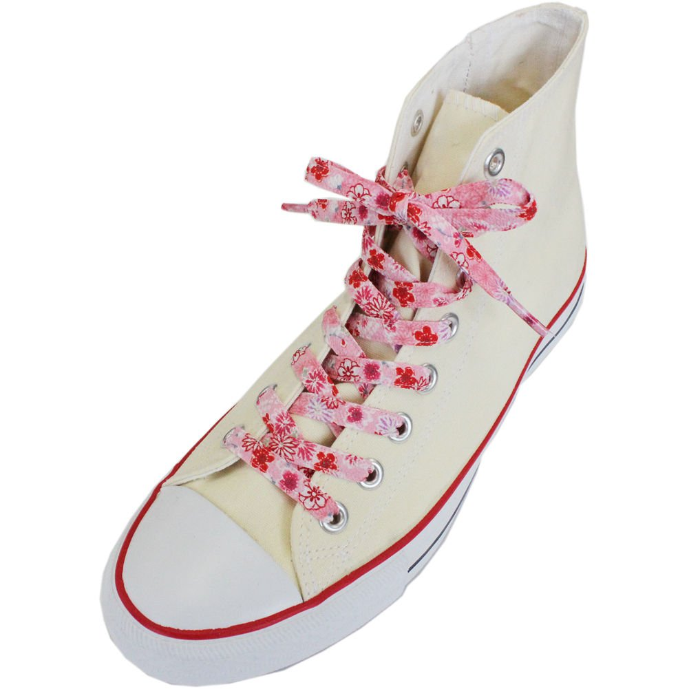 Japanese Chirimen Shoelaces for Sneakers 128cm 50inch (Pink)