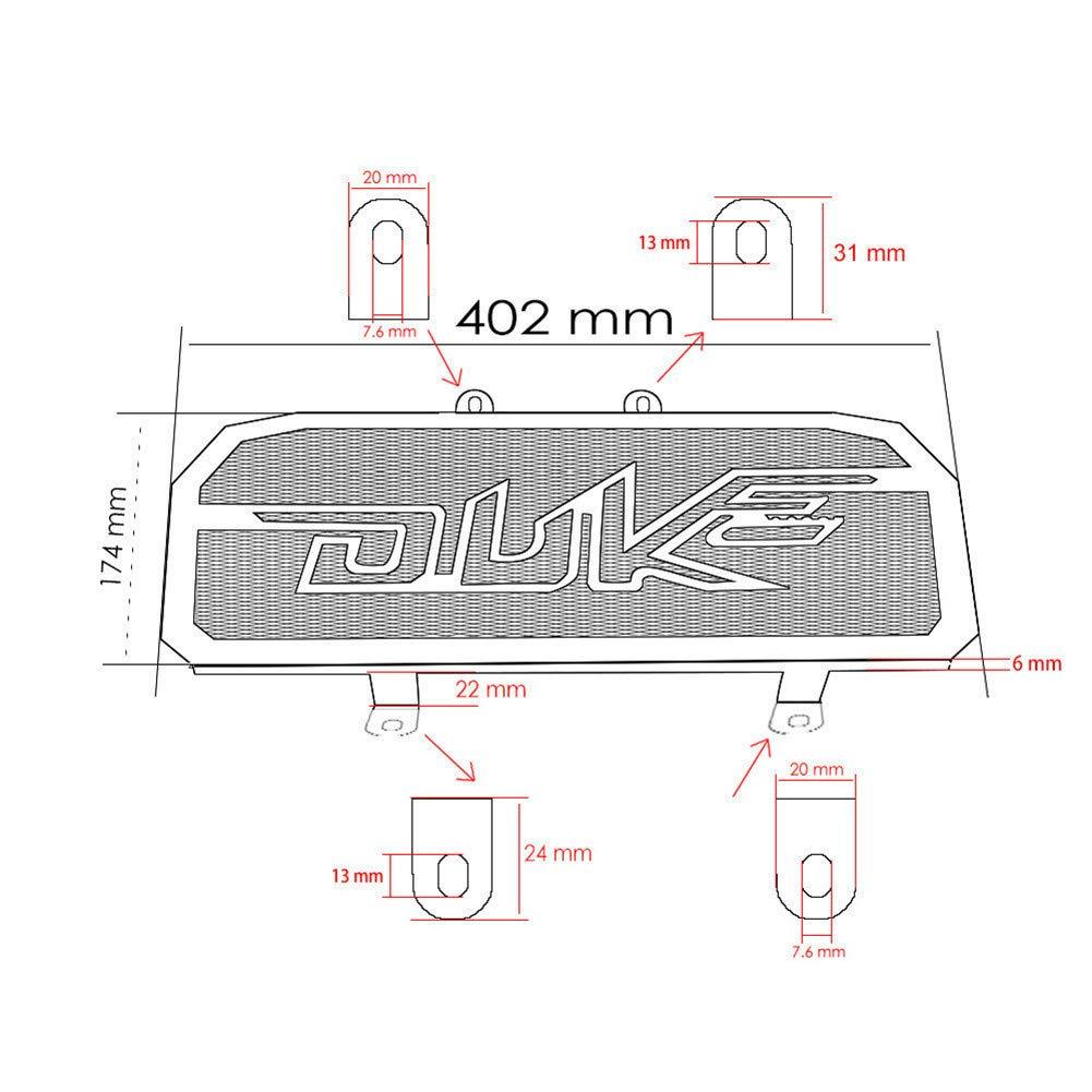 para KTM Duke 390 Duke 125 200 Accesorios de la Motocicleta Cubierta del Protector de la Parrilla,Orange Qxkl Protector de la Parrilla del Bisel del radiador del Motor de la Motocicleta