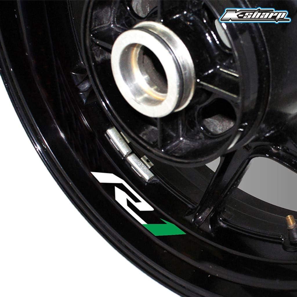 Pneu Moto Autocollant r/éfl/échissant Jante Autocollant de Roue pour Yamaha MT-03