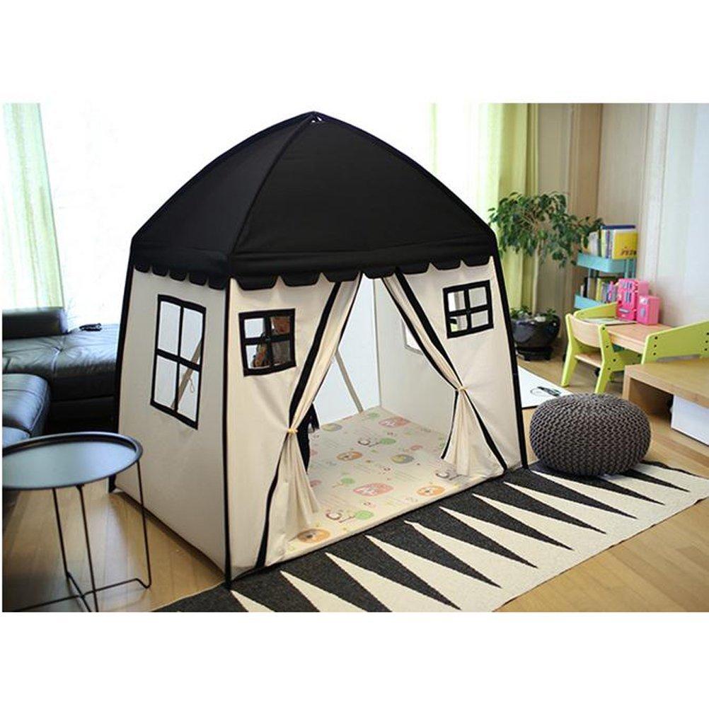 自由の愛@黒色ゲームルーム子供ままごとインド子供テント子供遊びのテント子供のテント小屋 B01G8HRR36