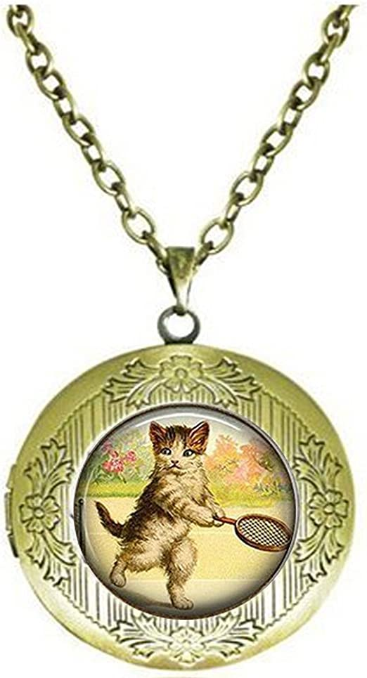 Collar con colgante de gato de tenis, joyería para gatos, collar ...