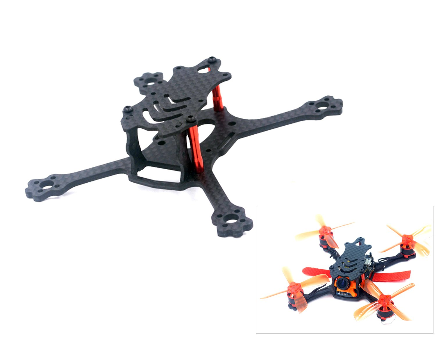 usmile ALFA-Genie110 110mm Stretch X Micro Carbon Fiber Quadcopter Frame Kit Mini quad fpv racing drone with 2.5mm Arm support for Runcam Micro Swift Micro Sparrow FPV camera