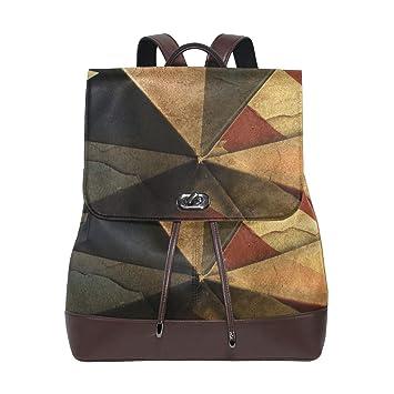 FANTAZIO Mochilas Vintage Bandera Escolar Bolsa de Cuero Daypack: Amazon.es: Deportes y aire libre