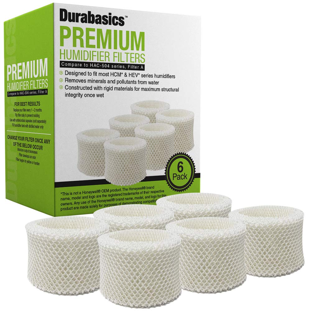 HCM350 and Other of Cool Mist Humidifier Models HCM350W HCM350B HAC-504AW 6 Pack of Premium Humidifier Filters Compatible with Honeywell HAC-504 /& Filter A Replacement for Honeywell HCM 350
