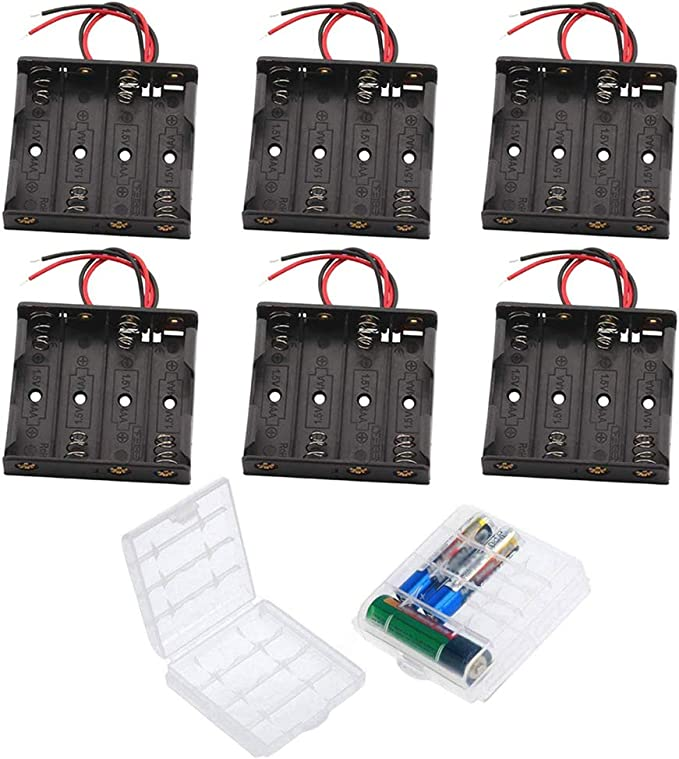 GTIWUNG 6V 18650 Caja de Soporte de Batería Caja de Almacenamiento ...