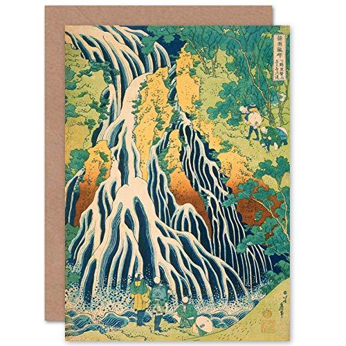 Fine Art Prints Katsushika Hokusai Japanese Mount Kurokami Greeting Card with Envelope Inside Premium Quality