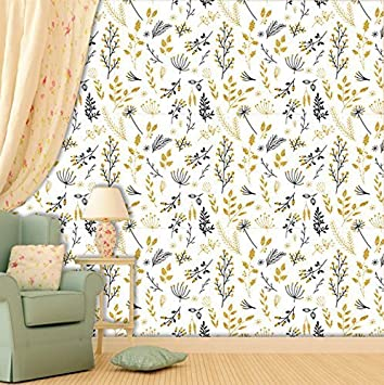 Paper Plane Design Matte Finish And Water Proof Wallpaper For Home 5 Sq Ft Multi Coloured