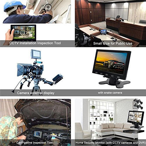PONPY 7'' Ultra Thin 16:9 HD 800x480 Color TFT LCD Display Headrest Monitor Touch Button Monitor Screen AV HDMI VGA Video Input by PONPY (Image #8)
