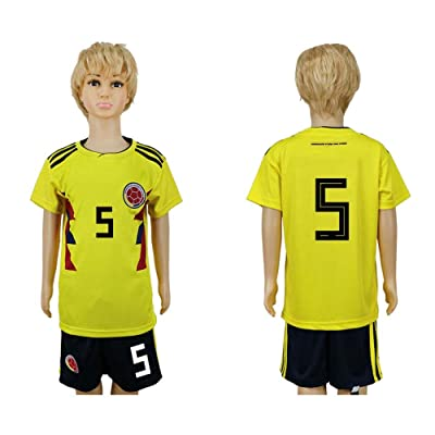 2018 Russia World Cup Columbia National Team #5 Kids Home Sport Soccer Jersey