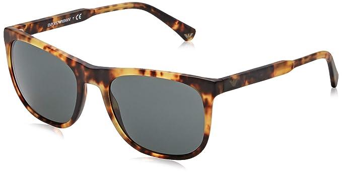 Emporio Armani 0EA4099 Gafas de sol, Matte Blonde Havana, 56 ...
