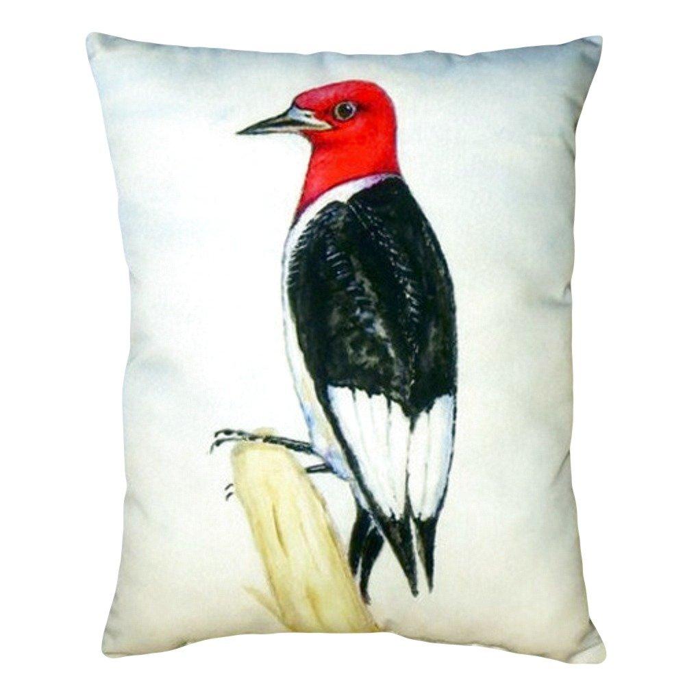 Betsy Drake NC310 Redheaded Woodpecker No Cord Pillow,,16'' X20''