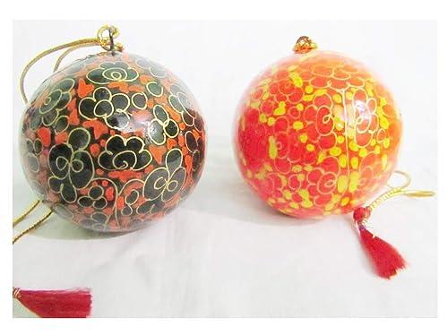 Paper Mache Christmas Ornament.Amazon Com Mysticalindia Hand Painted Paper Machie Ball