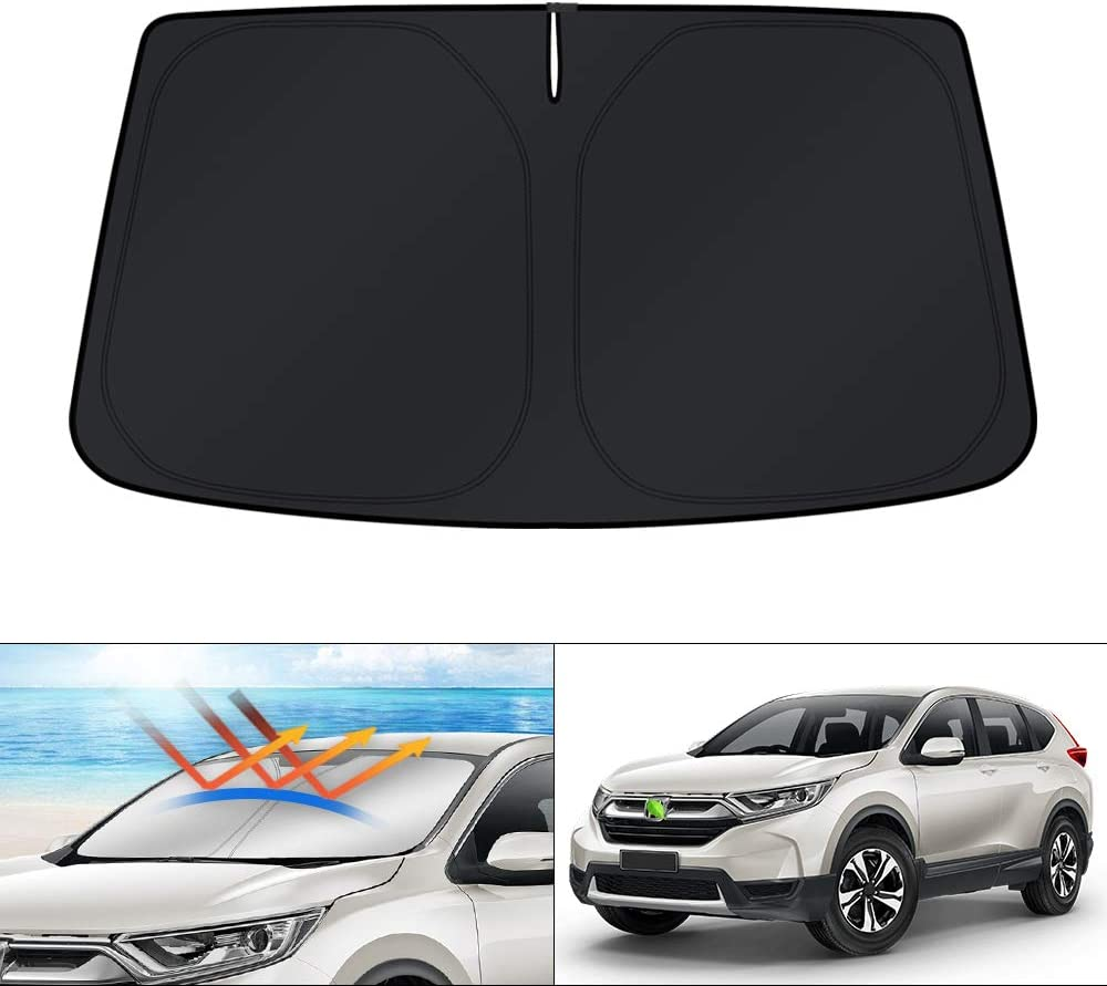 KUST Windshield Sun Shade Blocks UV Rays Sun Visor Protector Foldable Sunshade for Honda CRV CR-V 2017 2018 2019 2020 2021 Keep Your Car Cooler