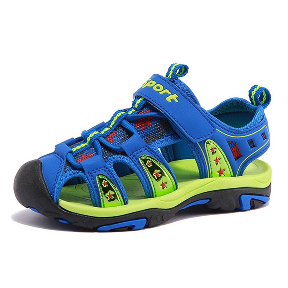 CYBLING Boys and Girls Summer Outdoor Beach Sports Closed-Toe Sandals Breathable Mesh Water Shoes