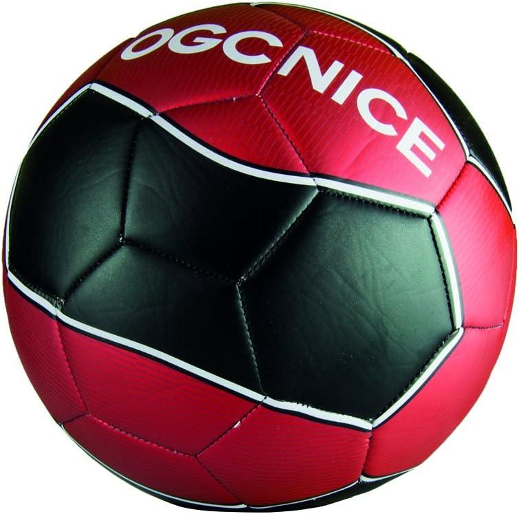 OGCNICE Ballon Foot Rouge et Noir Produit Officiel