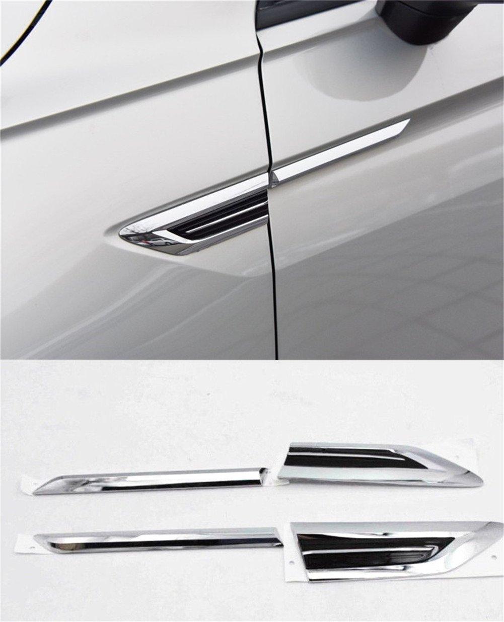 baodiparts 4Pcs Badge di decorazione dell'automobile di taglio del distintivo dell'armonia del fender dell'ala laterale