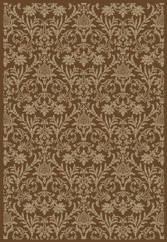 Concord Global Trading Concord Global Jewel Damask Brown Area Rug - 7'10
