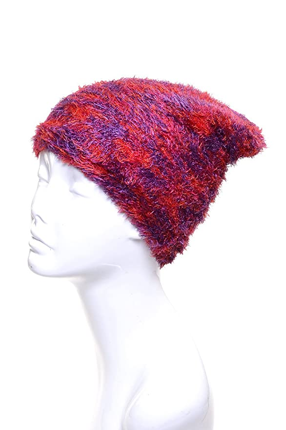 f4704f78dae Amazon.com  LL Girls Multicolor Soft Magic Stretch Warm Lined Winter Knit  Hat- Many Colors (Bright Red Purple)  Clothing