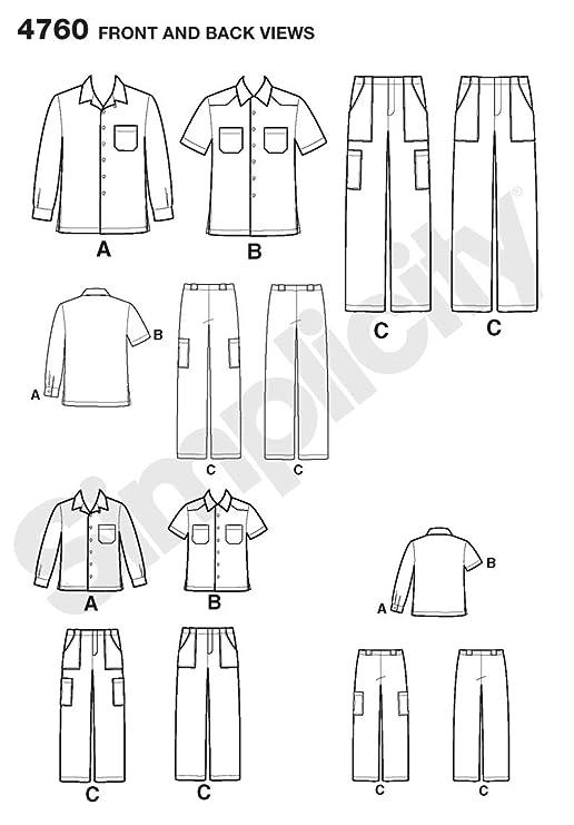 Simplicity 4760 A - Patrones de costura para camisas y pantalones de ...