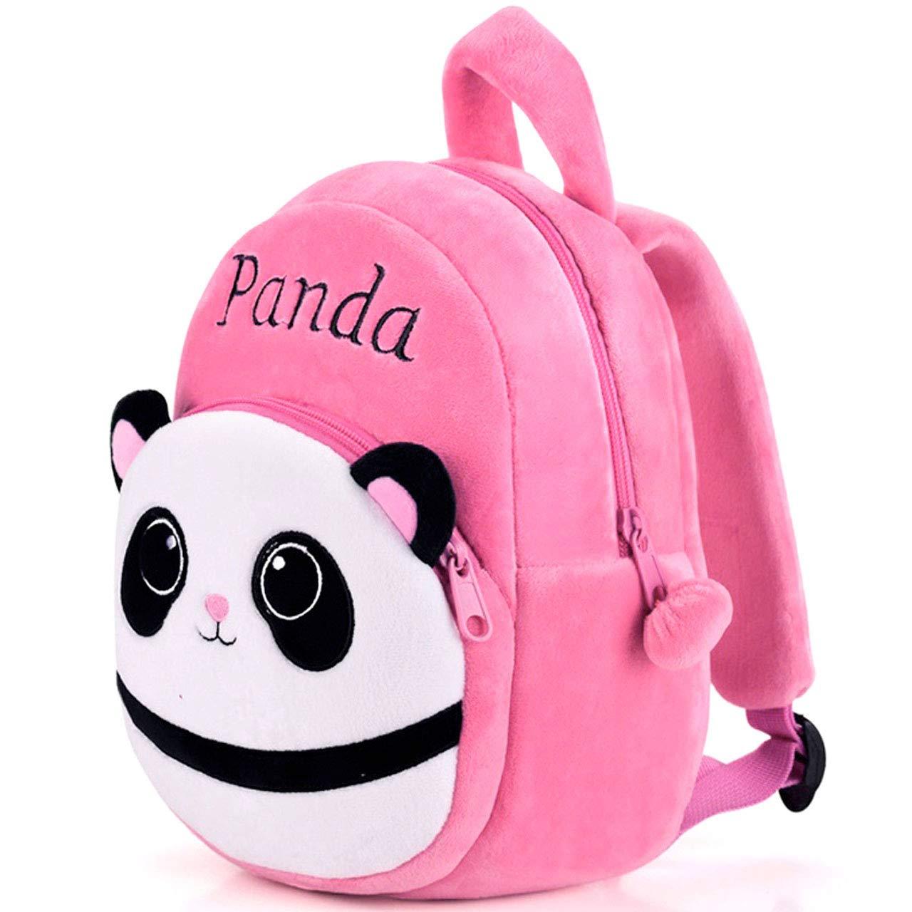 DZert Panda Kids School Bag Soft Plush Backpacks Cartoon Boys Girls Baby  (2-5 Years) Pink: Amazon.in: Bags, Wallets & Luggage