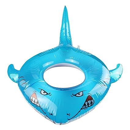 LAFALA Pool Floats Toys Swimming Ring Inflatable Pool Swim Tube Shark  Lounger Raft Summer Swimming Pool