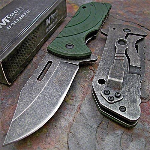 Mtech Frame (Mtech Ballistic Green G10 Stonewashed Folding Pocket Knife)