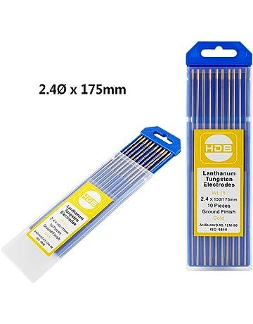 Topwill 10 x Electrodos de Tungsteno, WL-15 Electrodos de Soldador 2,4