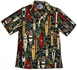Surfboards Collection Hawaiian Shirts - Mens Hawaiian Shirts - Aloha Shirt - Hawaiian Clothing - 100% Cotton Navy 2XL