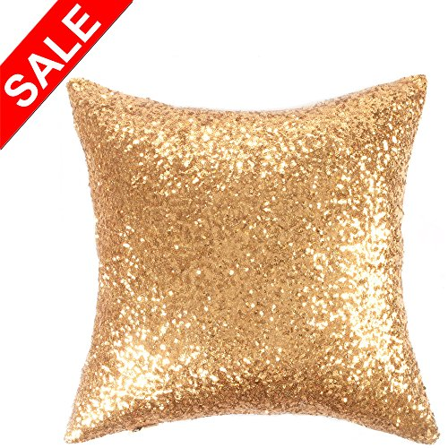 Kevin Textile Sequin Decor Throw Pillow Sham Cover Stylish Sparkling Square 18